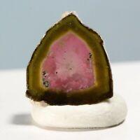 3.95ct Watermelon Tourmaline Slice Peach Mine Afghanistan Crystal Gem Mineral 14