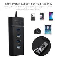 Hi-Speed 4 Port USB 3.0 Multi HUB Splitter Expansion For Desktop PC Laptop Adapt