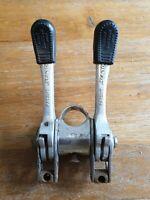 Vintage Suntour Power Shifter Stem fit + tube clip and derailleurs bicycle 70s