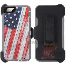 For Apple Iphone 6 Plus USA Flag Camo Defender Case Cover (Clip Fits OtterBox