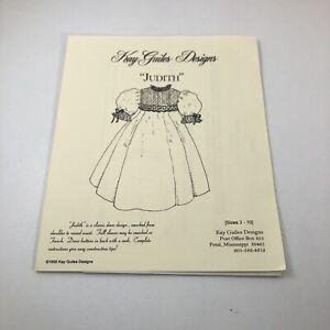 "Kay Guiles Designs ""Judith"" Uncut Sewing Pattern Smocked Dress Sizes 3-10"