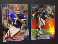 BRUCE SMITH & DOUG FLUTIE 1999 Finest REFRACTOR Lot #34 and #120 BUFFALO BILLS
