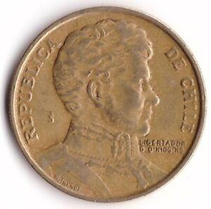 1 Peso 1979 Chile Coin KM#208a - Bernardo O'Higgins