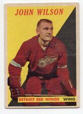 1X JOHN WILSON 1958 59 Topps #22 VG Detroit Red Wings