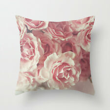 Cushion Pillow Case Rose Pink Flower Floral Cover 18'*18' home decoration