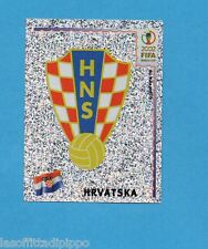 KOREA/JAPAN 2002-PANINI-Figurina n.476- SCUDETTO/BADGE -CROAZIA-NEW BLACK BACK