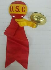 Vintage University of Southern Cal 1940's Pin & Ribbon