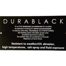 Durablack ENGRAVED SIGN Aluminium OUTDOOR Weatherable UV Mounting Holes 200x100
