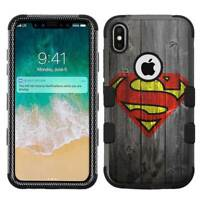 for Apple iPhone X (Ten) Armor Impact Hybrid Cover Case Superman #W
