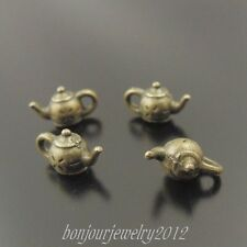 38106 Antique Bronze Tone Alloy Teapot/Kettle Pendant Finding Charm 140 pcs