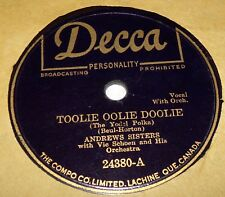 Decca 24380 Andrews Sisters Toolie Oolie Doolie / I Hate To Lose You 78 RPM V+