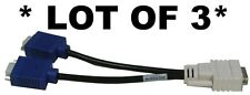 3 x HP/DELL/LENOVO DMS59 to 2x VGA Output Cable/Adapter Splitter PN#338285-008