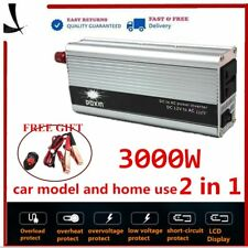 3000W - 6000W DC 12V to AC 240V Power Inverter Charger Converter Car Plug zgxx