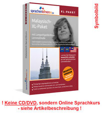 Sprachkurs Malaysisch lernen XL-Paket Online Kurs Vokabeln Audiotrainer