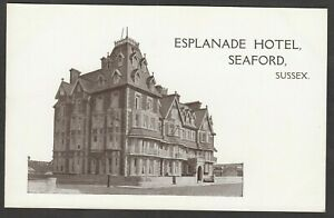 Postcard Seaford nr Newhaven Sussex early view of Esplanade Hotel