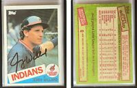 Jerry Willard Signed 1985 Topps #504 Card Cleveland Indians Auto Autograph