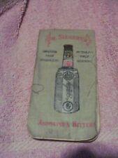 1912-1913 Dr. Siegert's Angostura Bitters Pocket Bar Recipes Cloth Booklet