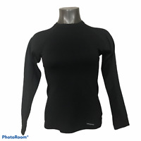 Patagonia Women's Shirt Capilene Baselayer Black Long Sleeve Crew Neck S