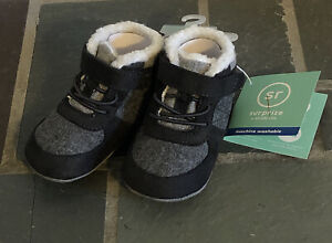 Baby Boys Surprize Stride Rite 6-12 mo Grey Crispin Boots Gray New