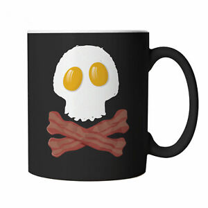 Bacon & Egg Skull and Crossbones Mug - Gift for Dad, Fathers Day, Birthday