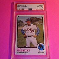 1973 Topps 283 Ray Sadecki PSA 8 NmMt New York Mets