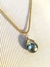 Wendy Brigode Large  South Sea Pearl Pendant On Chain Fantastic!