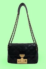 MARC  JACOBS SINGLE BAROQUE Black Quilted Bag  Msrp $1095
