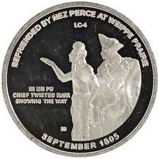 1 oz Silver Round Nez Perce at Weippe Prairie Idaho Lewis & Clark .999 Fine