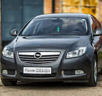 Eyebrows for VAUXHALL / OPEL Insignia A XENON headlight eyelids lids ABS Plastic