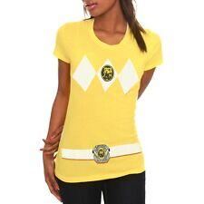 Power Ranger Yellow Movie Show Mighty Morphin Costume Juniors T Shirt A635KAF1