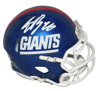 SAQUON BARKLEY AUTOGRAPHED NEW YORK GIANTS COLOR RUSH SPEED MINI HELMET BECKETT