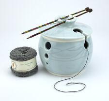 Kuan Glaze Small Yarn Bowl with Lid