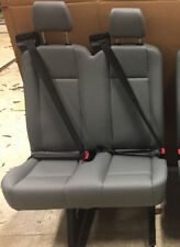 2015 Ford Transit Van 2 Person Bench Seats Gray VINYL