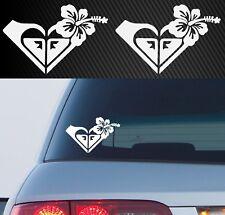 2x Roxy GIRL Surf Windshield Laptop Car Decal Sticker