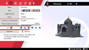 Ultra Shiny 6IV EV Trained Bold Water Compaction Palossand Pokemon Sword/Shield