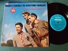 """CHORALE FEDERALE SCOUTISME FRANCAIS N° 3 - 25 cm 10"""" LP MONO PHILIPS P 76.214"""