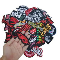 Random Lot of 19 Rock Band Patches Iron on Music Punk Roll Heavy Metal Jacket