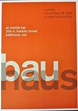 Bauhaus - Live at Marble Bar - Mini-Concert Poster Reprint- 10x14
