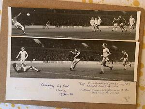 2 x Original West Ham WHU Press Photos - League Cup Semi Final Goals 1981