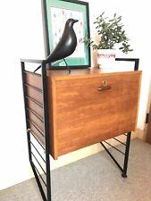 Ladderax Record Cabinet/desk - Mid Century Vintage Retro-Modular Shelving Unit