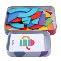 Children Model Puzzles Iron Box Building Educational Wooden Toys ONE