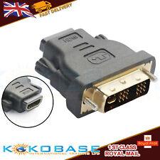 HDMI Female To DVI Male Adapter Connector DVI-I (24+5) Dual Link HDMI 1.4