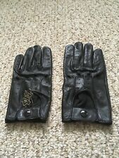 Men's Driving Black Leather Gloves Medium