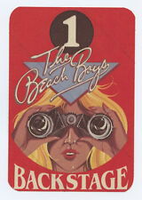 Beach Boys Backstage Pass Bad Vibrations Tour 1982