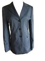 Sui Anna Sui Women's Blazer Blue Gray Silk Jacket Size 42 US Medium 6