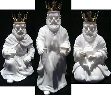 Dept 56 Silhouette Treasures 3 WISE MEN FIGURINE Gold King Crown Candle Holders