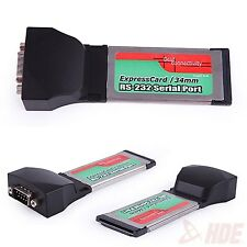 RS232 DB9 Serial I/O Port to PCMCIA Express Card 34mm Adapter Laptop PC Notebook
