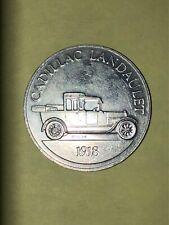 1918 CADILLAC LANDAULET 1968 Sunoco DX Gasoline Antique Car Aluminum Coin/Token