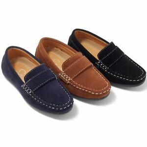 Boys loafers Shoes, Moccasins, Smart Shoes, Wedding Shoes, Tan/Navy or Black