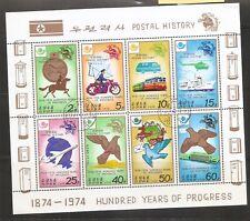 Korea SC # 1675a Postal History, Hundred years Of progress. MNH